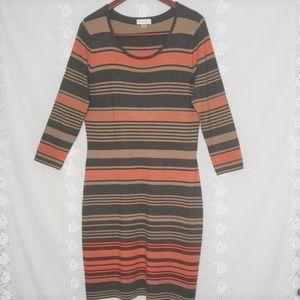 Calvin Klein striped sweater dress size XL